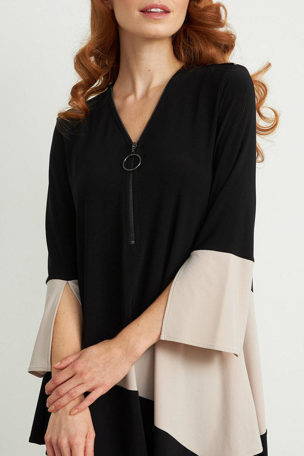 ¾ Sleeve Zip-up Tunic Style 204232