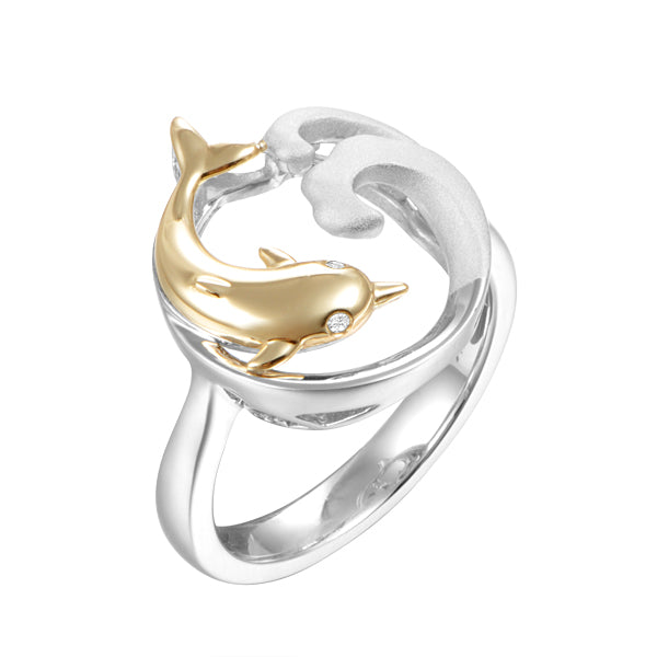 Alamea Hawaii Dolphin Ring - Size 7