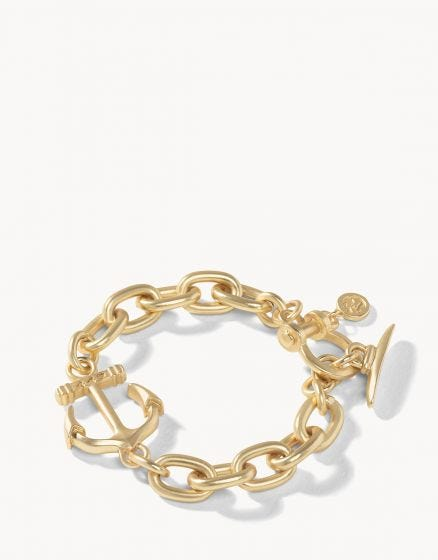 Anchored Toggle Bracelet Gold