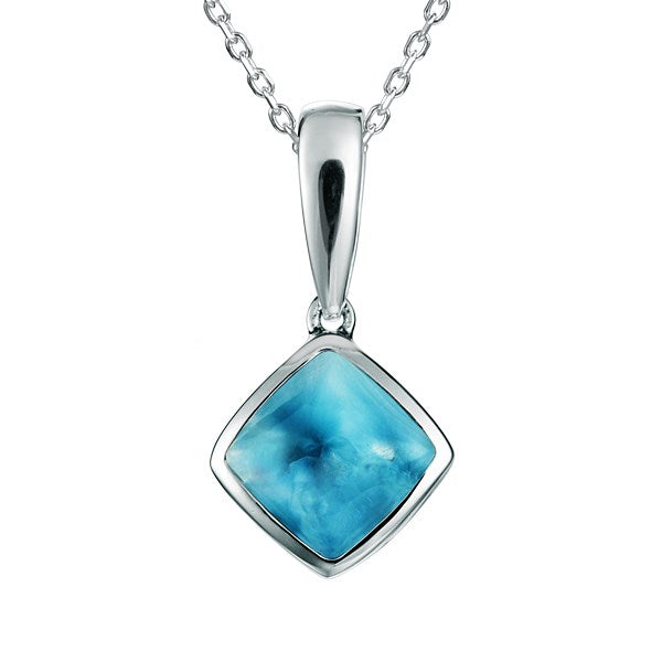Alamea Hawaii Larimar Diamond Pendant