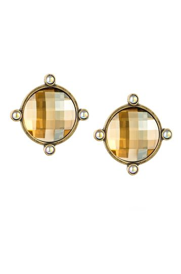 GOLDEN SHADOW SWAROVSKI OREILLE EARRINGS