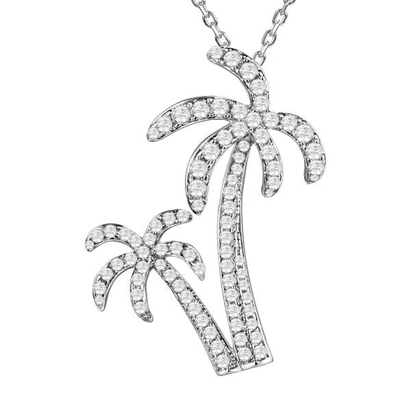 Alamea Hawaii Pavé Palm Tree Pendant