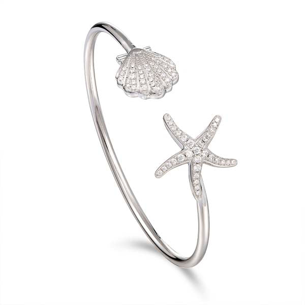 Alamea Hawaii Starfish & Shell Bangle