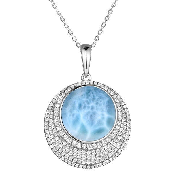 Alamea Hawaii Larimar Circle Pendant
