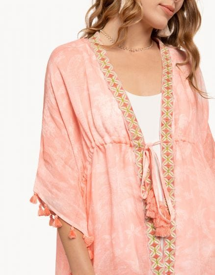 BEACH COVER UP OLDFIELD SOFT BLUSH