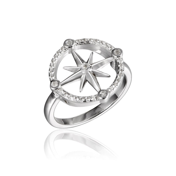 Alamea Hawaii Compass Ring - Size 7