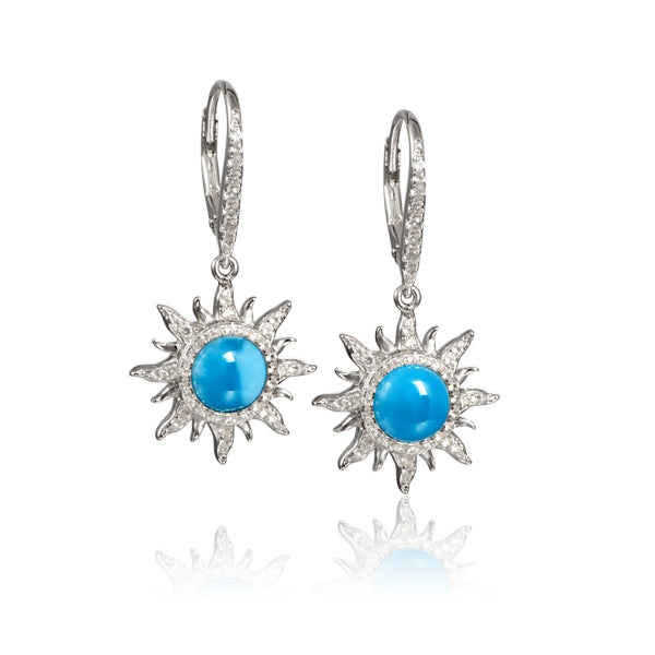 Alamea Hawaii Larimar Sun Earrings