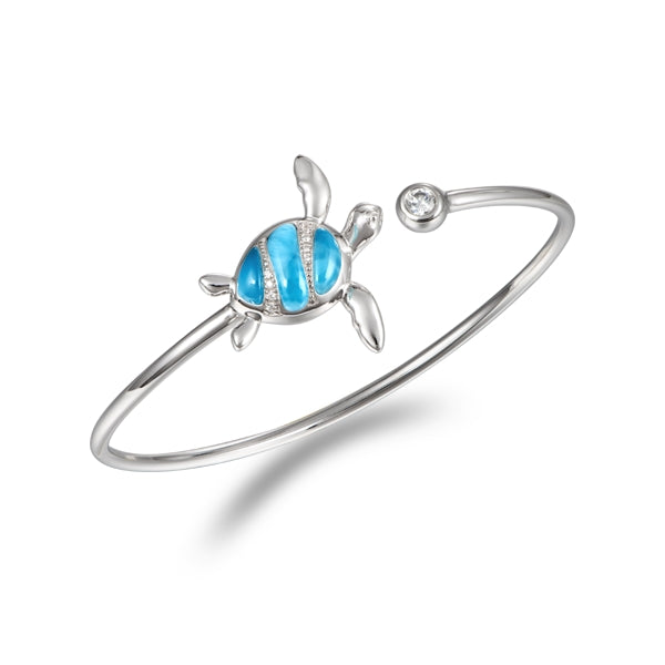 Alamea Hawaii Larimar Turtle Bangle