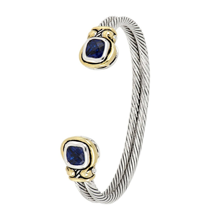 Anvil Color Indigo CZ Cuff Bracelet