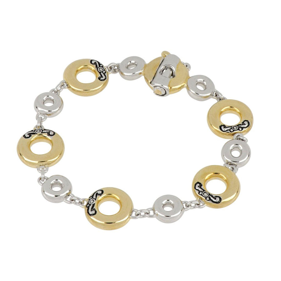 Ciclo D'Amor Multi Circle Single Row Two Tone Bracelet