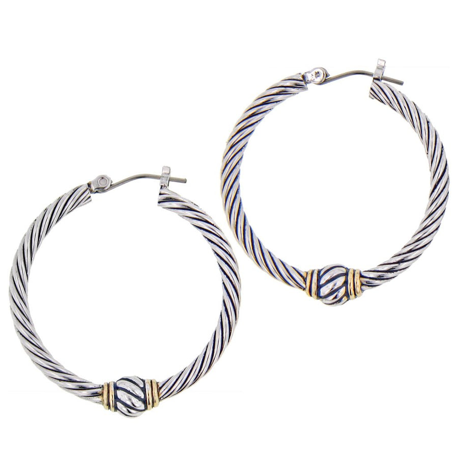 Oval Link Collection Large Twisted Wire Hoop Earrings