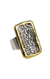 Kristal Plate Ring - Brass