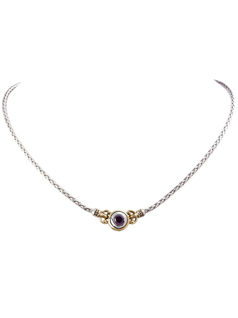 Beijos 6mm CZ Single Stone Necklace