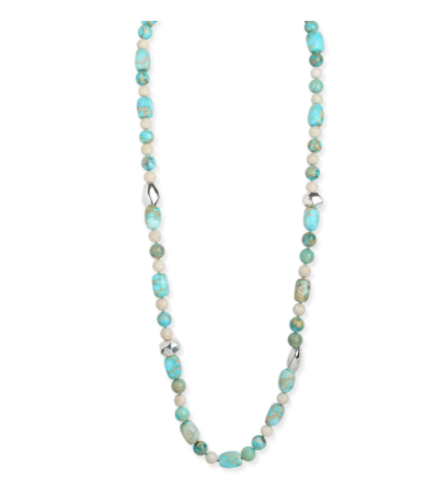 Simon Sebbag Beaded Turquoise Necklace with Silver Accent NB853/TQIJ38