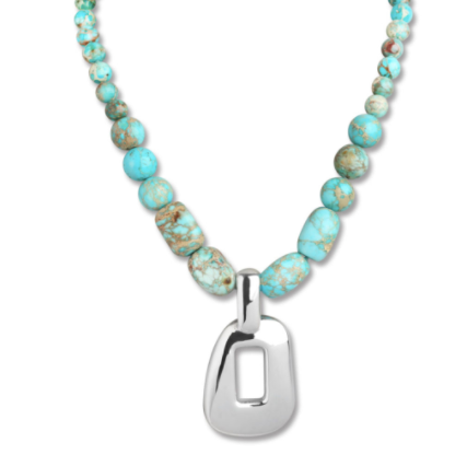 Simon Sebbag Turquoise Necklace with Oval Pendant PN597/TQIJ
