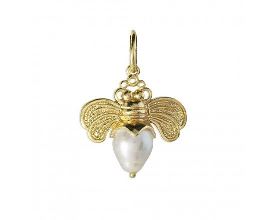 Waxing Poetic Bee Brave - Golden Honeypearl Charm