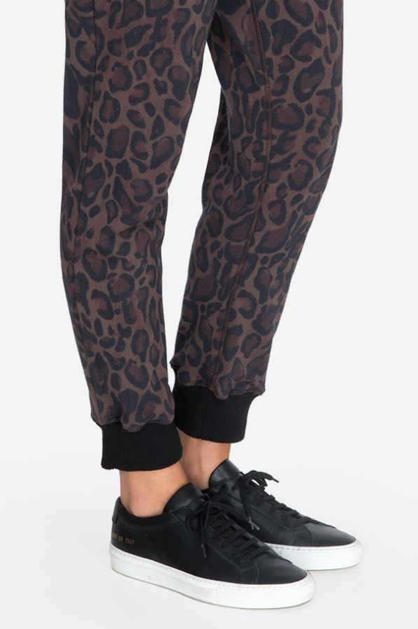 Johnny Was Leopard French Terry Jogger