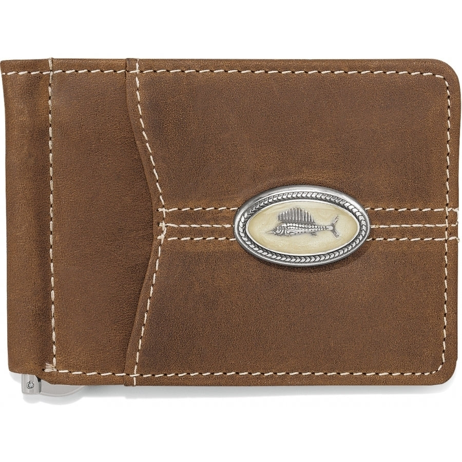 Brighton Trinidad Deep Sea Money Clip Wallet