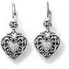 Brighton Reno Heart Leverback Earrings