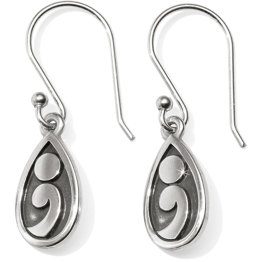 Contempo Ice Reversible Teardrop French Wire Earrings