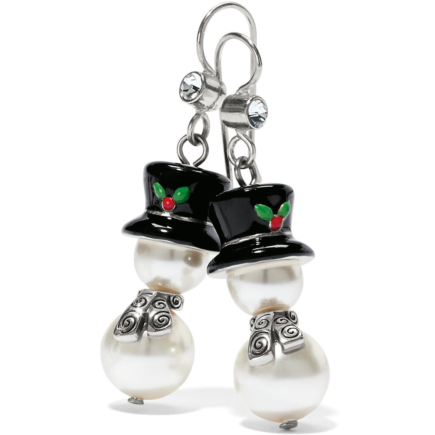 Tinsel Town Snowman French Wire Earrings
