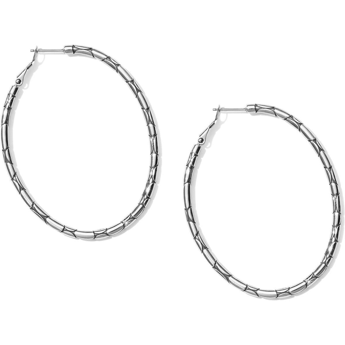 Brighton Pebble Large Oval Hoop Earrings