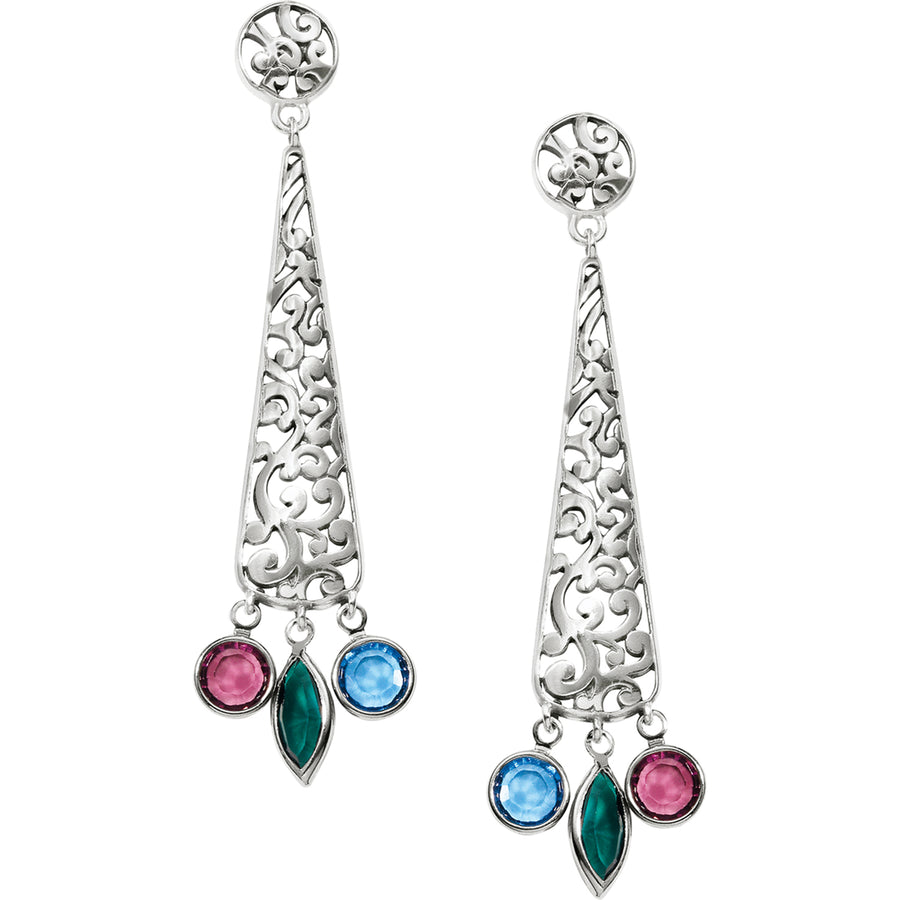 Elora Gems Post Drop Earrings
