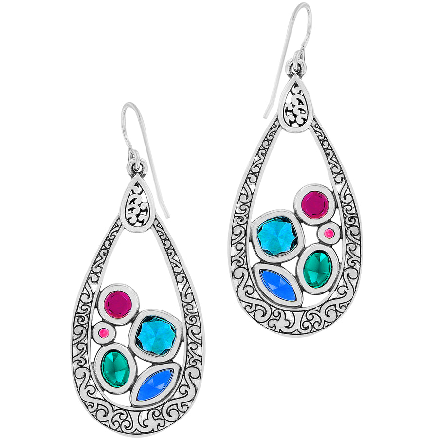 Brighton Elora Gems Vitrail Hoop French Wire Earrings