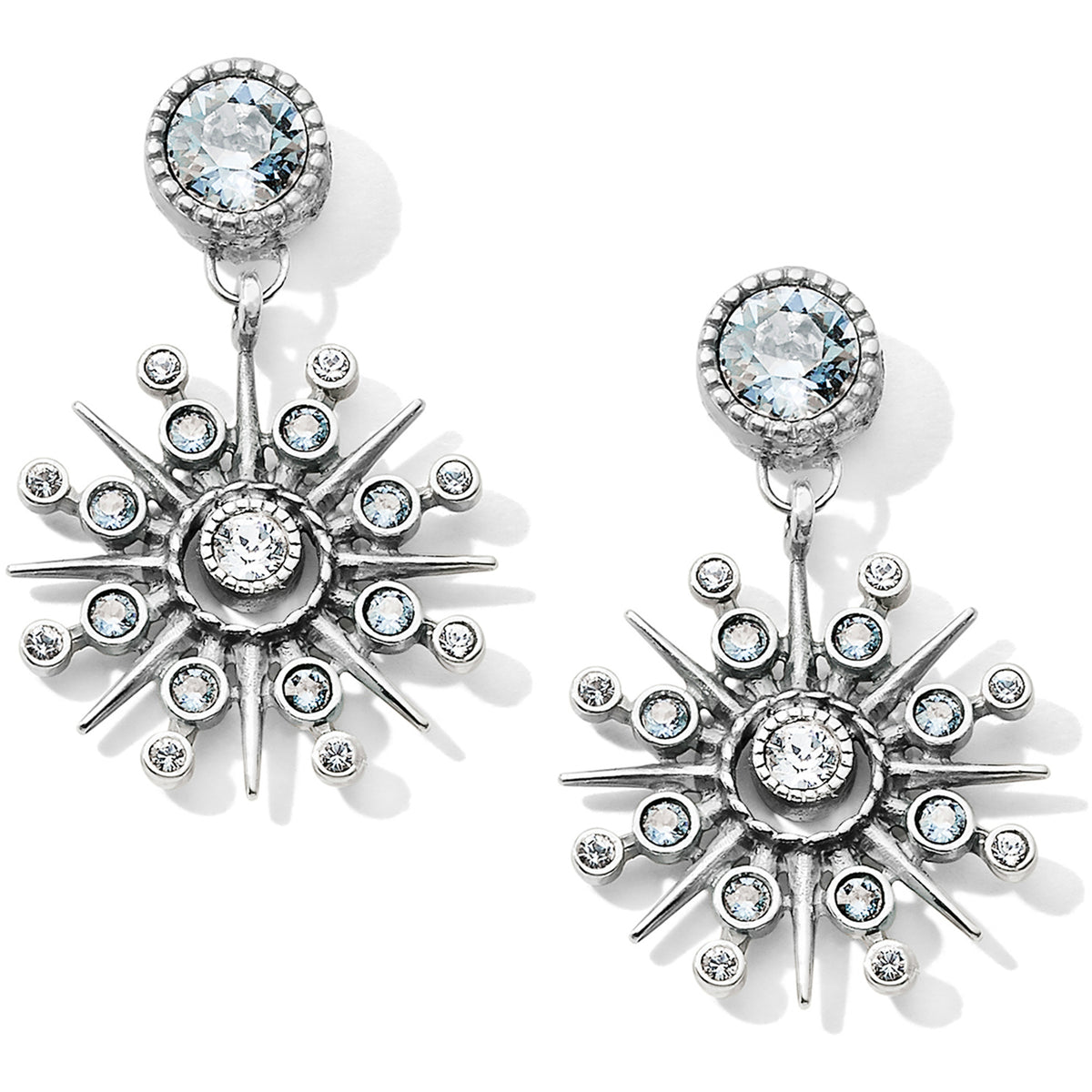 Halo Ice Post Drop Earrings