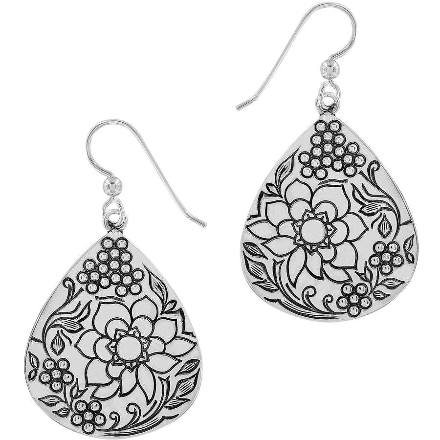 Journey To India Teardrop French Wire Earrings
