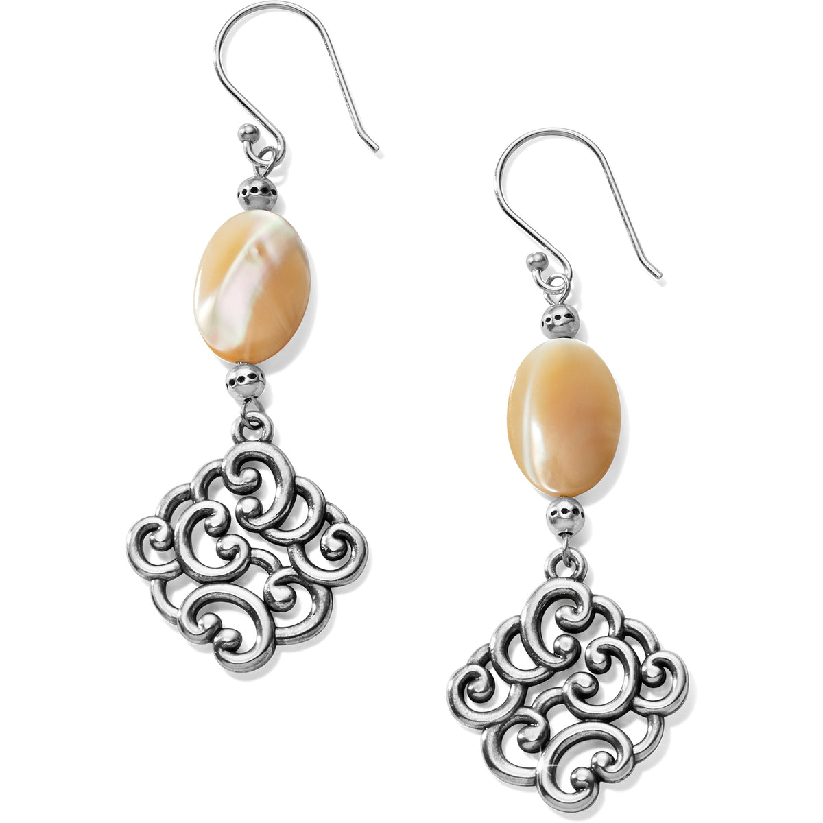 Barbados Nuvola Shell French Wire Earrings