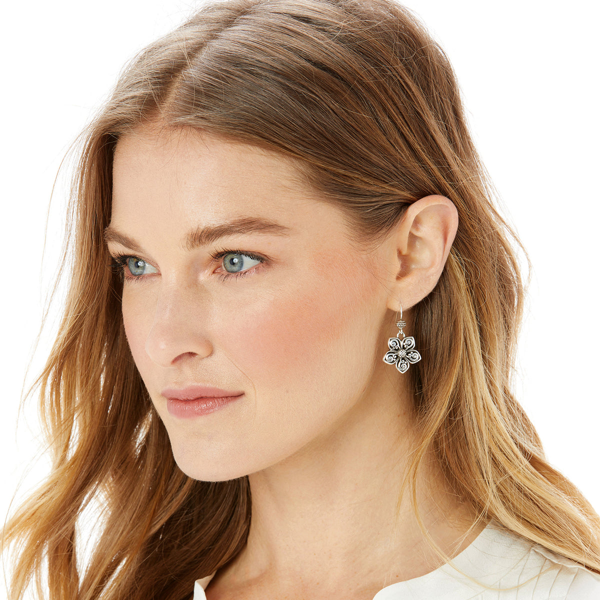 Uluwatu Flower French Wire Earrings