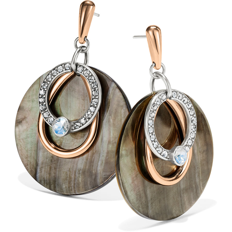 Neptune's Rings Shell Post Drop Earrings