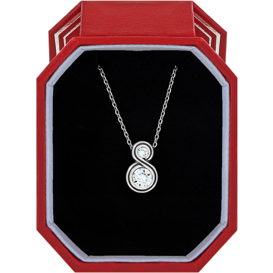Brighton Infinity Sparkle Petite Necklace Gift Box