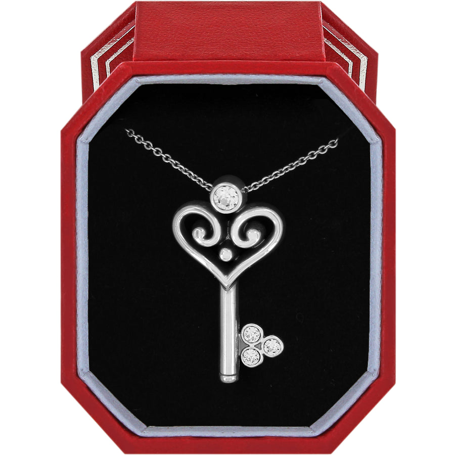 Brighton Alcazar Heart Key Necklace Gift Box