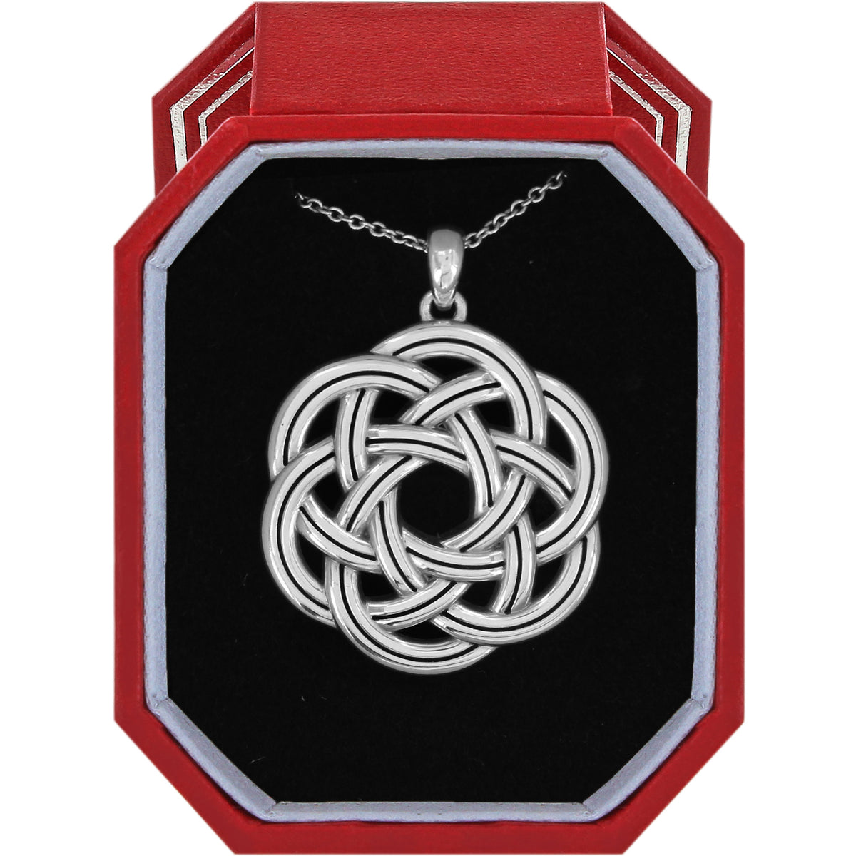 Brighton Interlok Eternity Circle Necklace Gift Box
