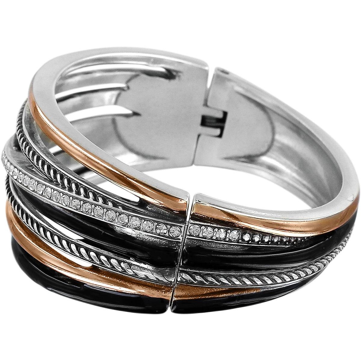 Brighton Neptune's Rings Black Hinged Bangle
