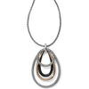 Brighton Neptune's Rings Black Convertible Pendant Necklace