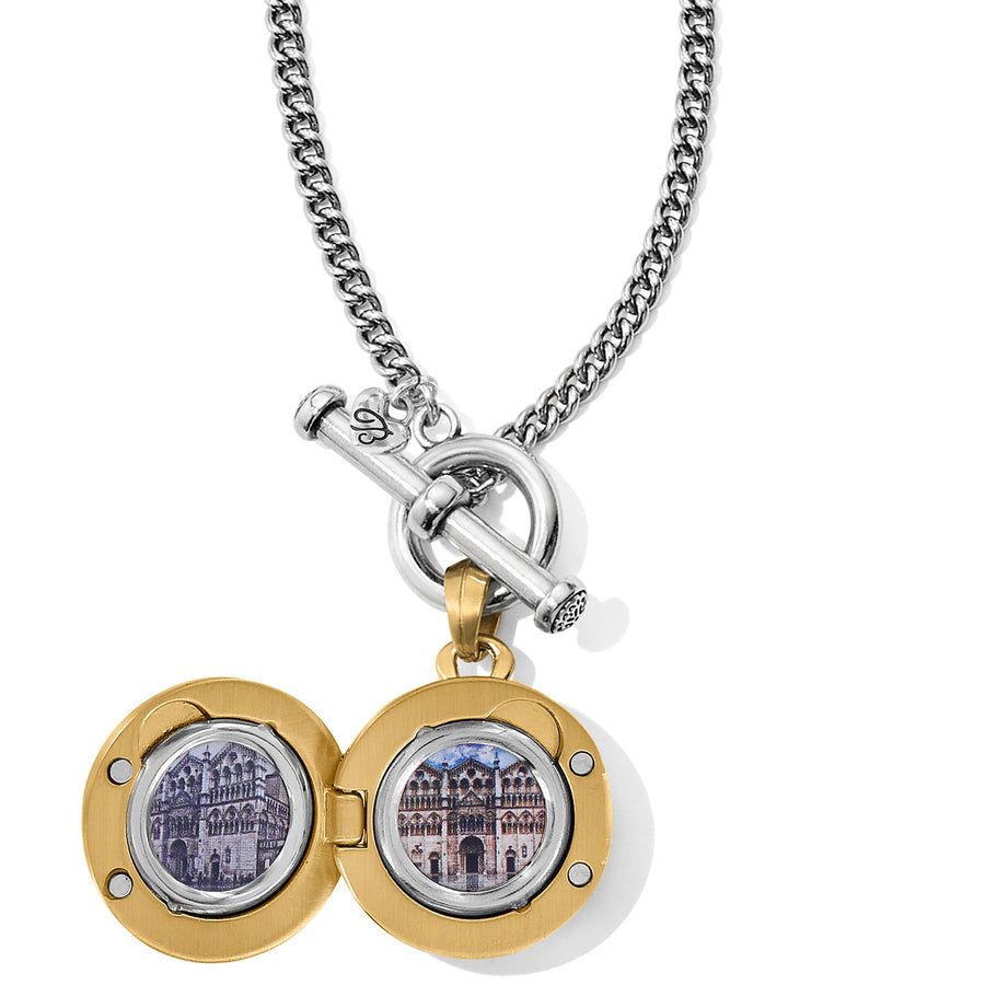 Brighton Ferrara Two Tone Locket Necklace