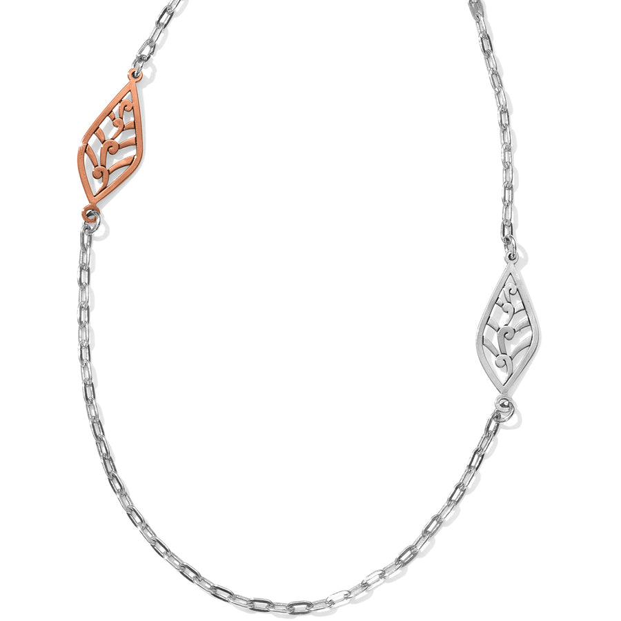 Barbados Leaves Light Long Necklace
