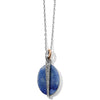 Brighton Neptune's Rings Oval Brazil Blue Quartz Reversible Short Necklace