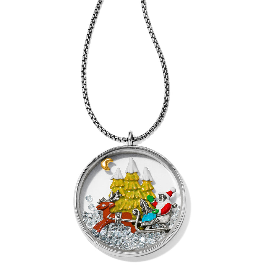 Santa's Sleigh Shaker Convertible Necklace