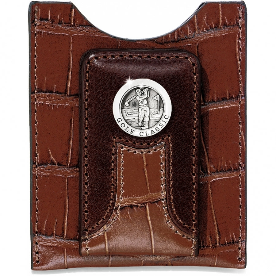 Brighton Golf Croco Money Clip