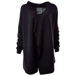 Load image into Gallery viewer, LBM Tricot Kaftan Sweater | BLK