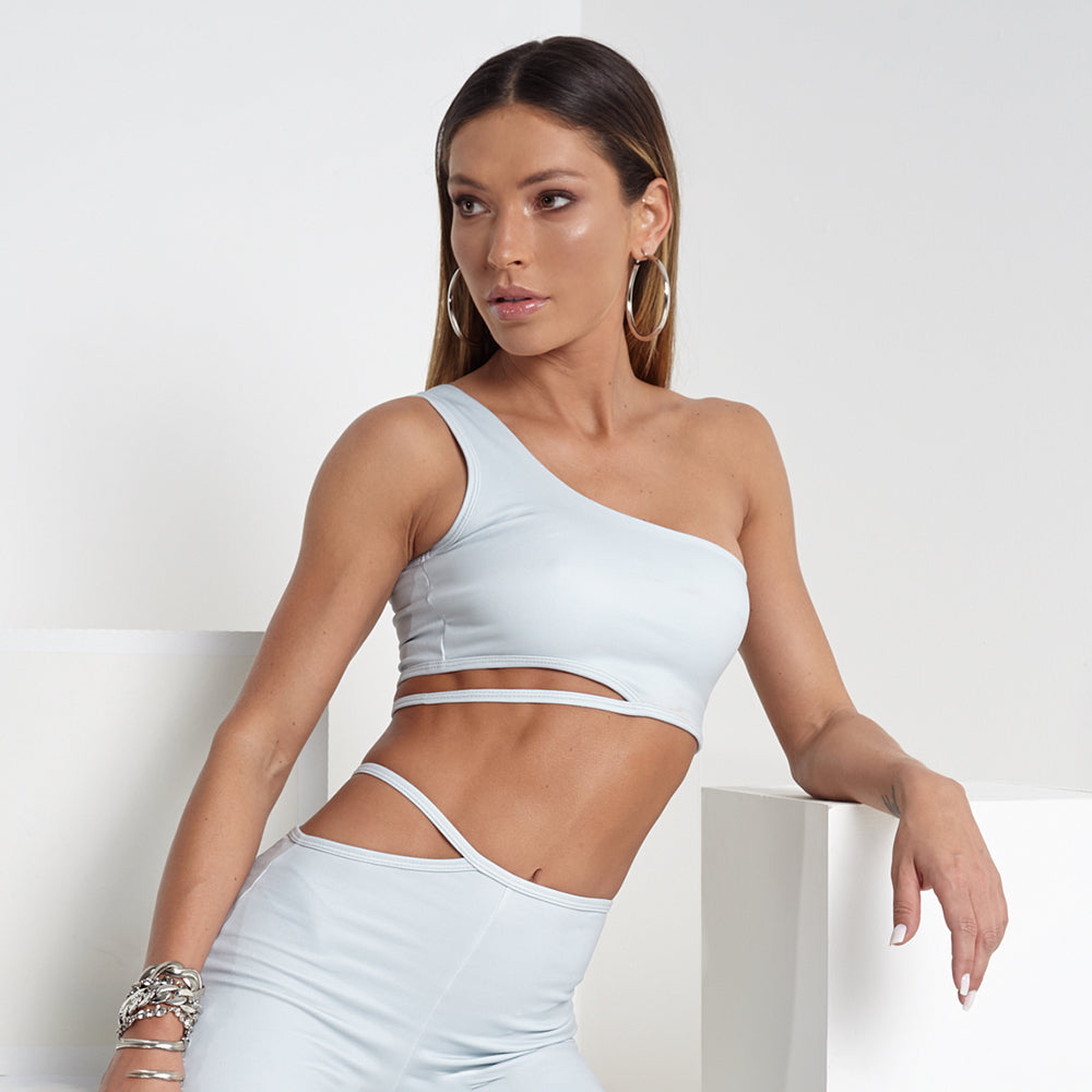 LBM Neon Cropped Top | BLU