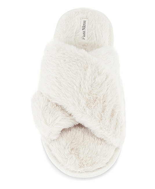 Flora Nikrooz Victoria Teddy Criss Cross Slipper