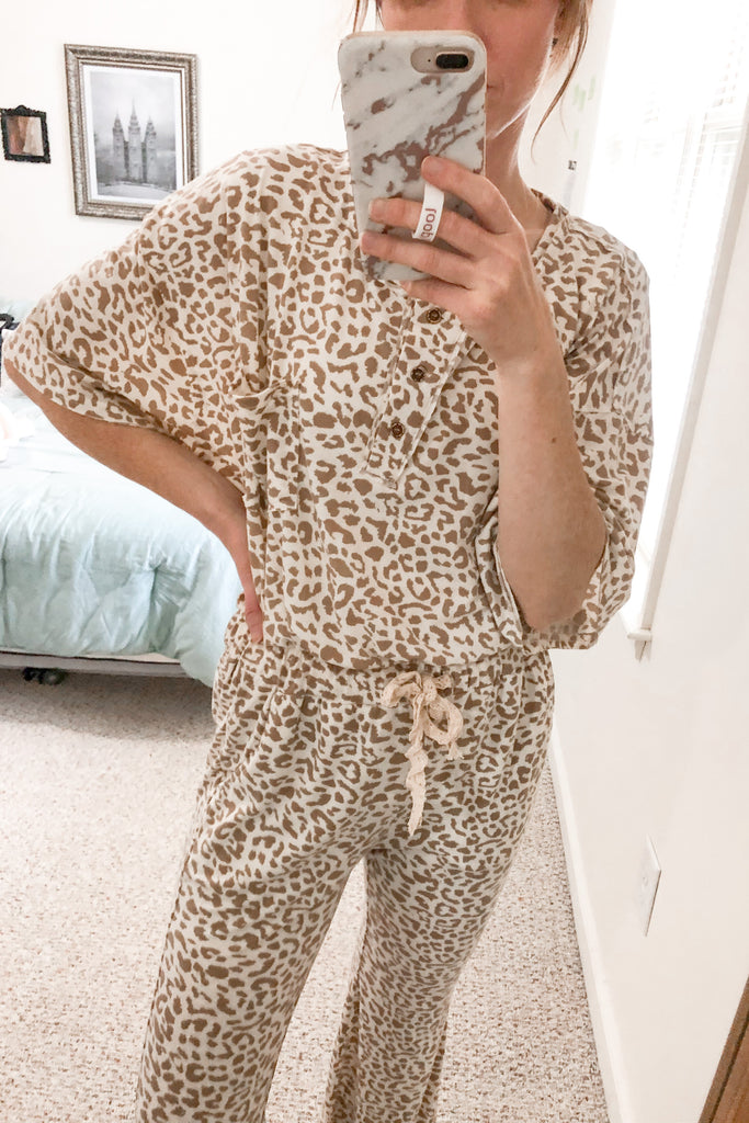 Baby Leopard Lounge Set