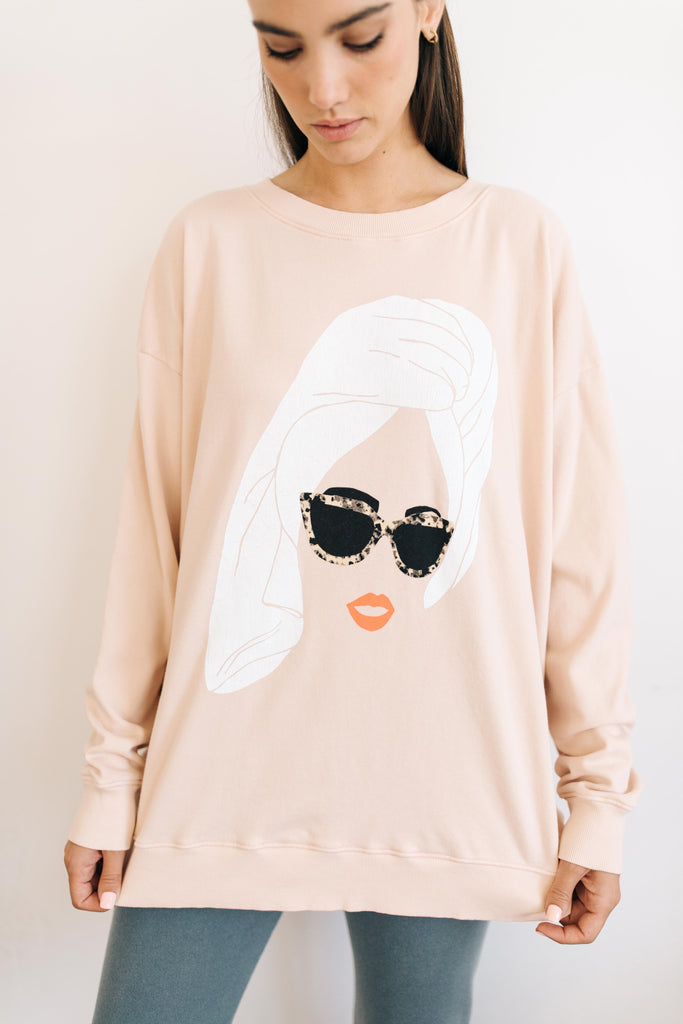 Wildfox Busy Lounging Roadtrip Sweatshirt