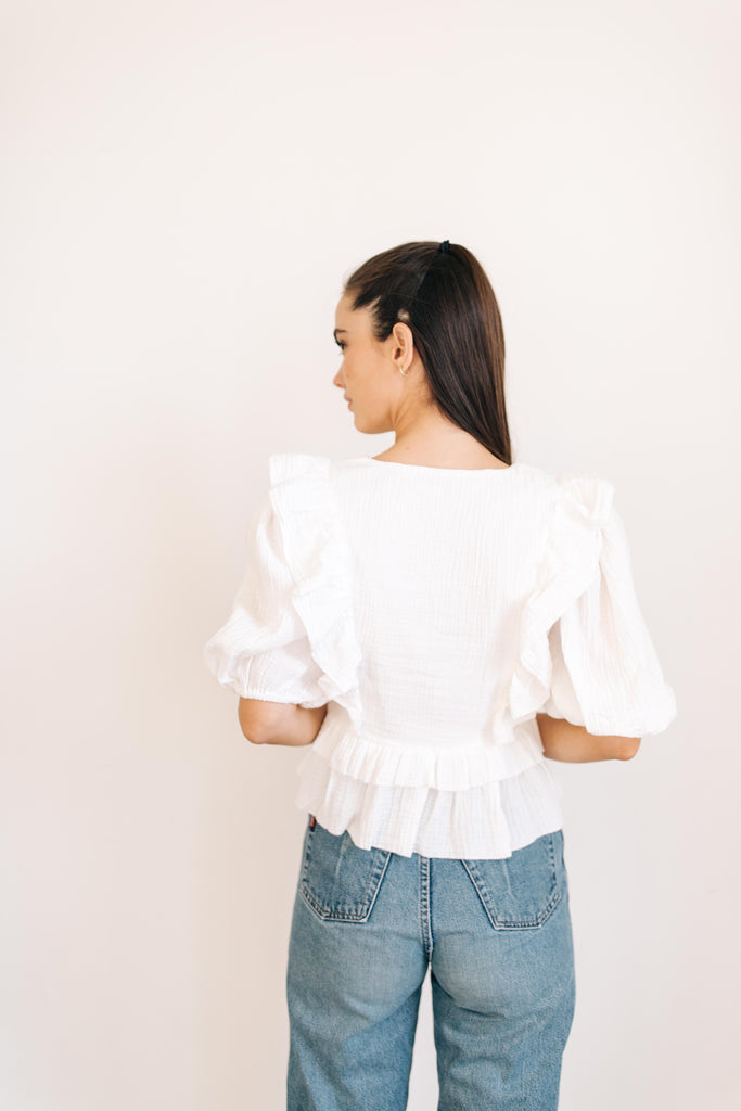 Florence Ruffle Top