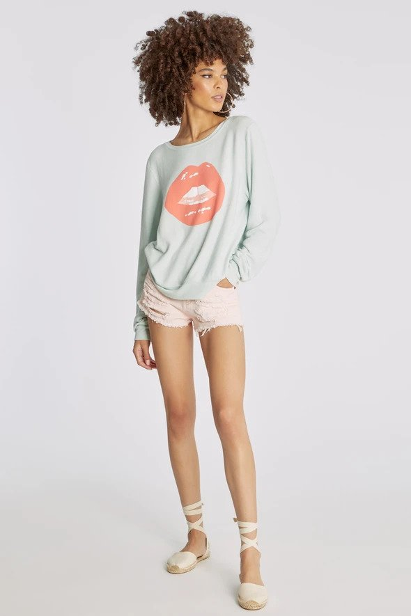 Wildfox Tarte Lips Baggy Beach Jumper